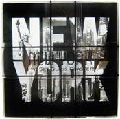 New York 4pc Set Glass Coasters -Black
