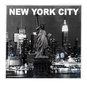 NYC Skyline 4pc Set Glass Coasters