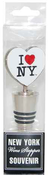 I Love NY Wine Stopper -White
