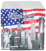 NYC Skyline & American Flag Paper Cube