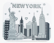 NYC Skyline Sketch Mouse Pad
