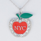 NY Big Apple Rhinestone Necklace