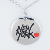New York With Apple Necklace