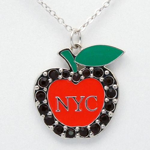 NY Big Apple Red Rhinestone Necklace photo