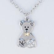 NY Teddy Bear Charm Necklace