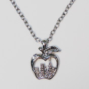 NY Skyline in Apple Charm Necklace