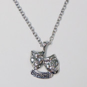 Broadway Mask Charm Necklace