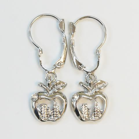NY Skyline in Apple Hanging Earrings photo