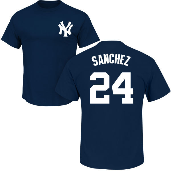 the best attitude be9cc 5697f Gary Sanchez T-Shirt - Navy NY Yankees Adult T-Shirt