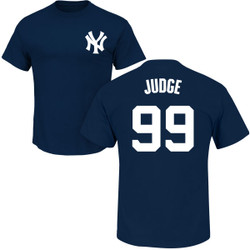 Aaron Judge T-Shirt - Navy NY Yankees Adult T-Shirt Photo