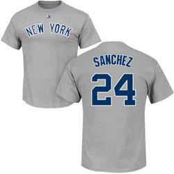 Gary Sanchez T-Shirt - Grey NY Yankees Adult T-Shirt Photo