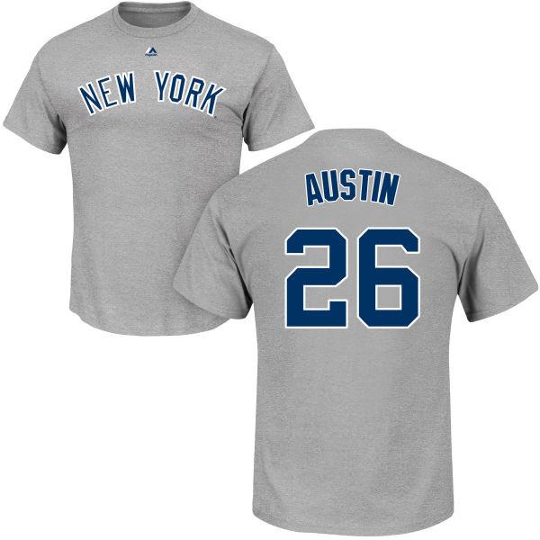 Tyler Austin T-Shirt - Grey NY Yankees Adult T-Shirt photo