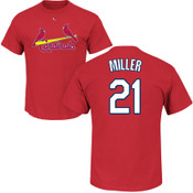 Andrew Miller T-Shirt - Red St Louis Cardinals Adult T-Shirt