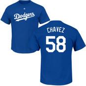 Jesse Chavez T-Shirt - Blue LA Dodgers Adult T-Shirt