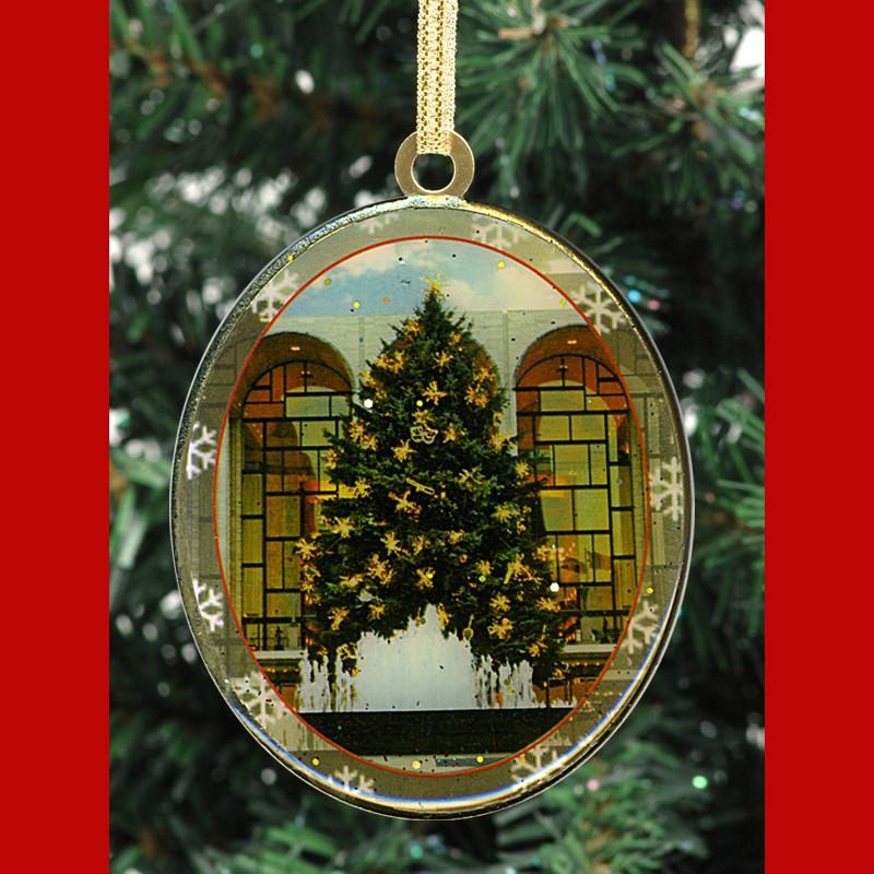 Christmas Tree In Ny: Lincoln Center Chistmas Tree Double Sided Ornament