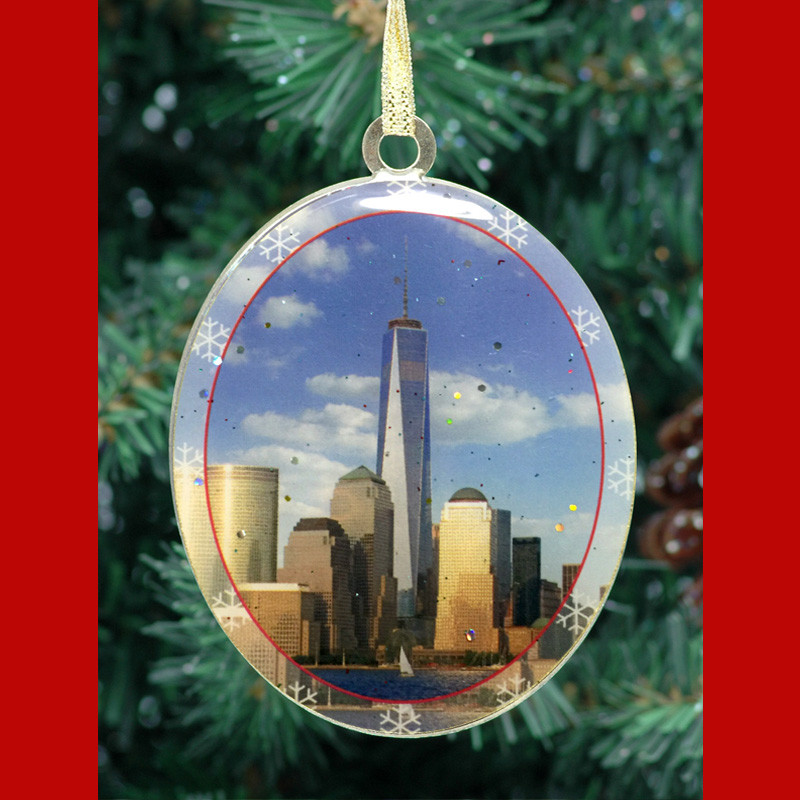 One World Trade Center Double Sided Ornament photo