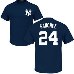 Gary Sanchez T-Shirt - Navy NY Yankees Adult T-Shirt Photo