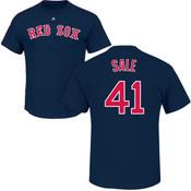 Chris Sale T-Shirt - Navy Boston Red Sox Adult T-Shirt