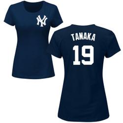 Masahiro Tanaka Ladies T-Shirt - Navy NY Yankees Womens T-Shirt Photo