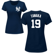 Masahiro Tanaka Ladies T-Shirt - Navy NY Yankees Womens T-Shirt