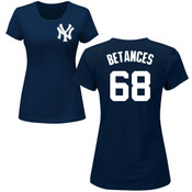 Dellin Betances Ladies T-Shirt - Navy NY Yankees Womens T-Shirt