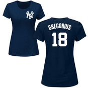 Didi Gregorius Ladies T-Shirt - Navy NY Yankees Womens T-Shirt