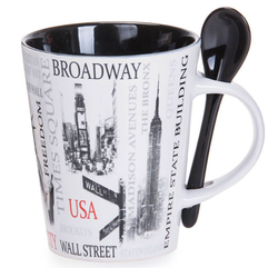 Popular Sites NYC 13oz. Mug- Black Photo
