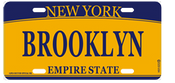 Brooklyn License Plate- Orange