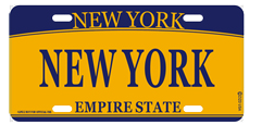 New York License Plate- Orange photo