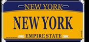 New York License Plate- Orange