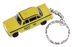 Taxi Cab Yellow Keychain