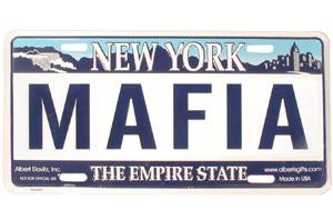 Mafia NY License Plate photo
