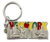 New York Colorful Lettering Big Apple Metal Key Chain