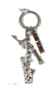 New York Key Chain with 4 Charms