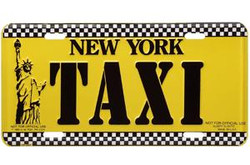Taxi Cab License Plate Photo