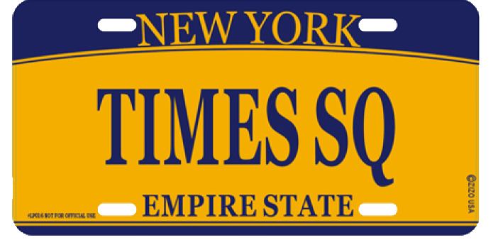 Times Square License Plate photo