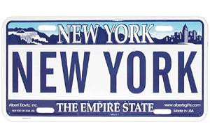 New York License Plate photo