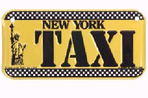 Taxi Cab Bike Plate photo
