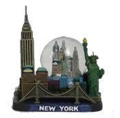 New York Empire State Building & Skyline 45mm Snow Globe