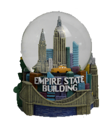 Colorful Empire State Building 65mm Snow Globe  Photo
