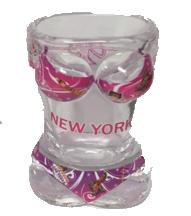 New York Printed Bikini Shot Glass