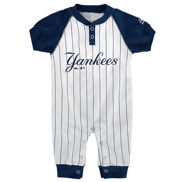 official photos 1ba5c 80bb6 Yankees Baby Pinstripe Onesie