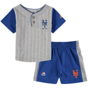 NY Mets Baby Pinstripe 2-pc. Set- 12 Months
