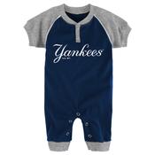 Yankees Navy & Gray Baby Onesie