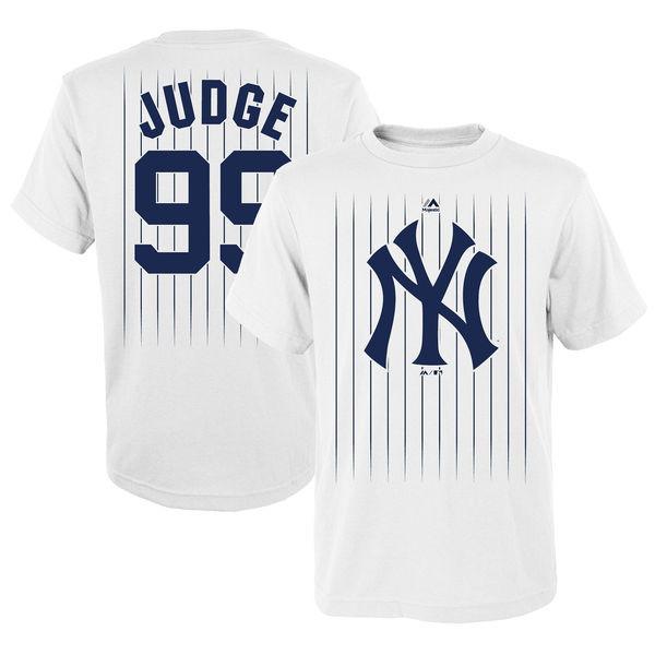 NY Yankees Pinstripe Aaron Judge Youth T- Shirt be5a4bcd11f