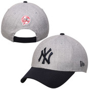 NY Yankees Heathered Gray/ Navy Nine Forty Adjustable Cap