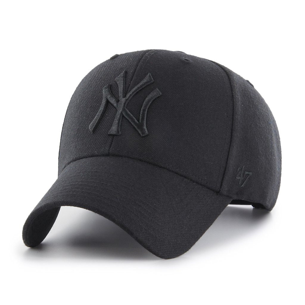 NY Yankees Original Black Black MVP Adjustable Cap Photo. Loading zoom e278e12309e