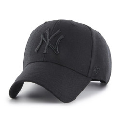 NY Yankees Original Black/Black MVP Adjustable Cap  Photo