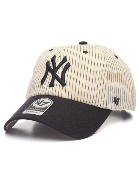 82a89e214f8a0 NY Yankees Blue   White Pinstripe Clean Up Adjustable Cap Photo. Loading  zoom