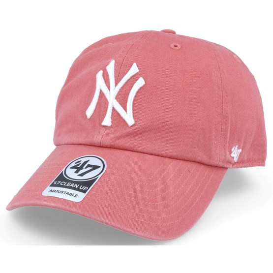 NY Yankees Light Red Clean Up Adjustable Cap Photo. Loading zoom 54048064b380